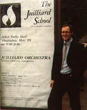 Ted at Juilliard 1982