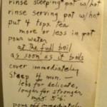 Tea instructions