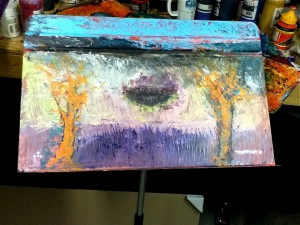 painted music stand